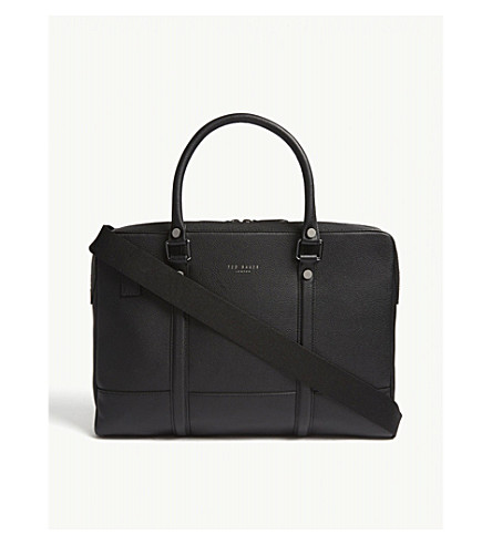 TED BAKER Awol grained leather document bag (Black