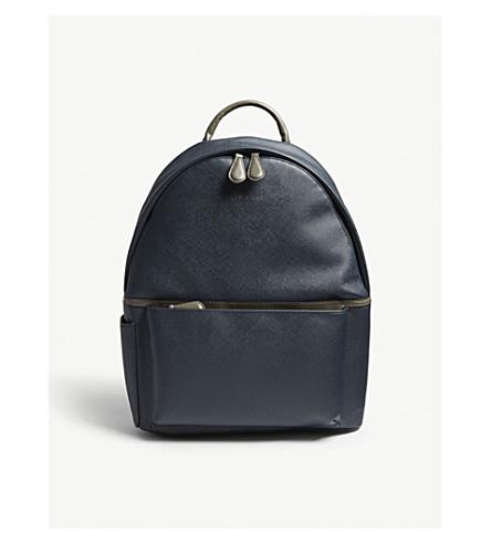 faux BAKER BAKER crossgrain Baarley backpack leather Baarley crossgrain TED Navy faux leather TED qxUwz