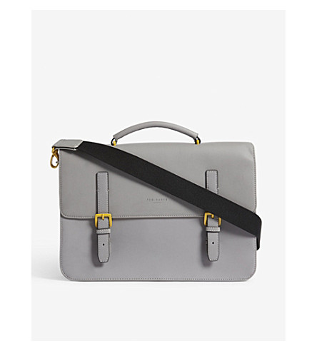 TED BAKER Barma rubber-look satchel (Grey