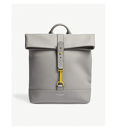 TED BAKER Brazila rubber-look backpack (Grey