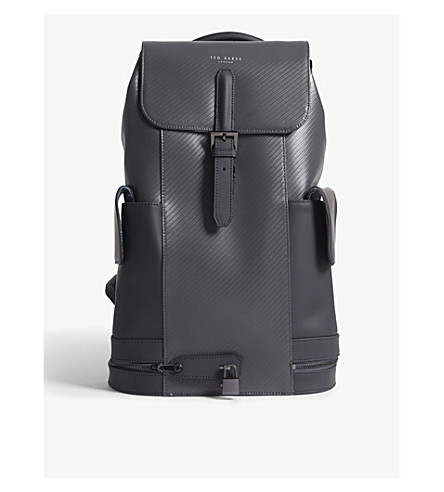 TED backpack Charcoal Crash BAKER BAKER TED leather rwcHq7rS