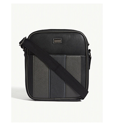 TED BAKER Mask webbing messenger bag (Black