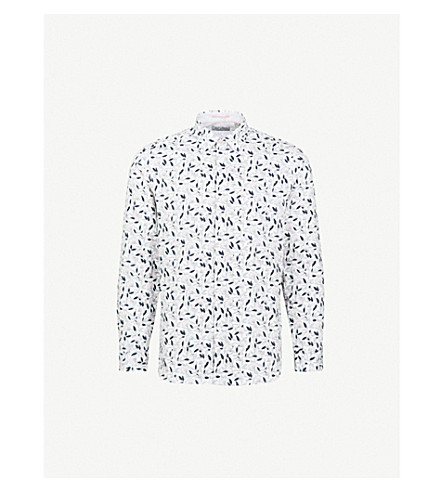 TED BAKER Aqulina floral-print regular-fit cotton shirt (White