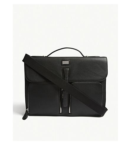 TED BAKER Munch leather satchel bag (Black