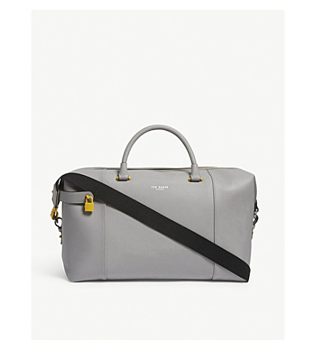 TED BAKER Newmex rubber-look holdall (Grey