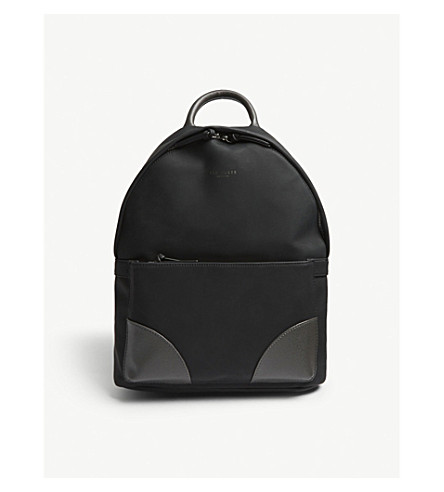 TED BAKER Passed faux-nubuck leather backpack (Black