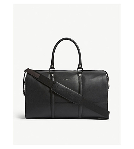 TED BAKER Radical grained leather holdall bag (Black