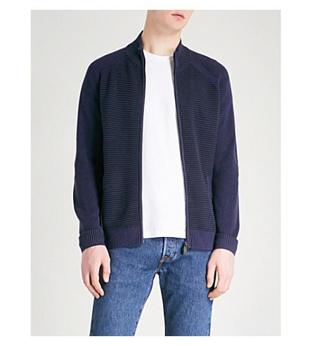 TED BAKER Cashzip knitted jumper (Navy