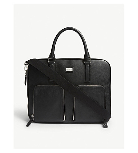 TED BAKER Toother leather document bag (Black