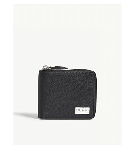 TED BAKER Grained leather coin wallet (Black