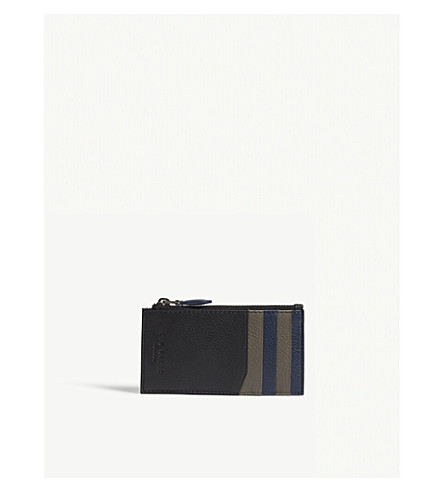 TED BAKER Colour-block leather coin holder (Black