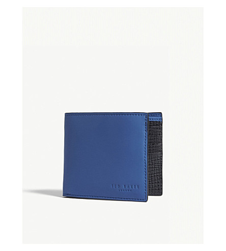 TED BAKER Rubber-look leather wallet (Blue