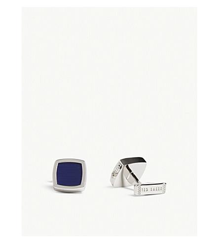 TED BAKER DEDLIFT onyx detail cufflinks (Blue