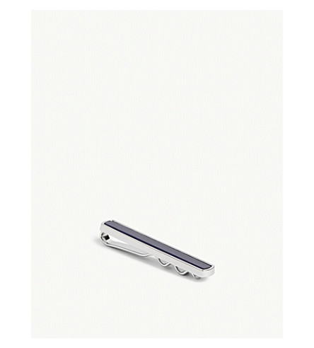 TED BAKER KETTLE catseye gemstone tie bar (Blue