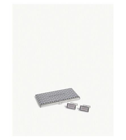 TED BAKER Ebor Cufflinks and card holder set (Grey