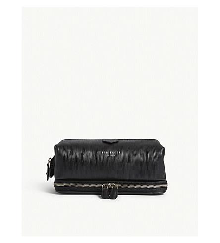 TED BAKER Kitter textured leather wash bag (Black