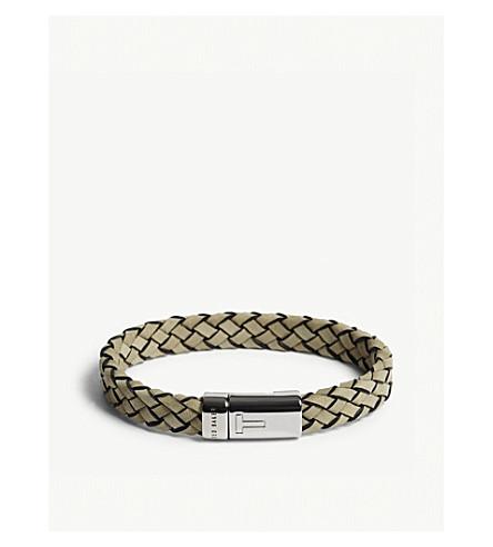 TED BAKER RUNFAST woven leather bracelet (Natural
