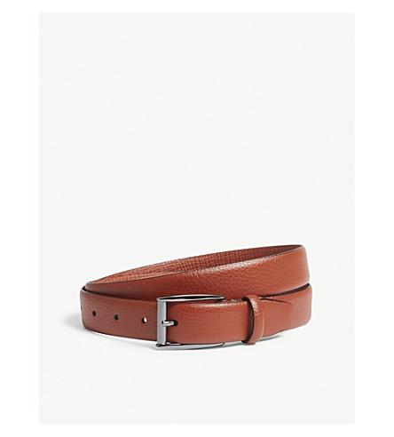 TED BAKER Hanoy grained leather belt (Dark+orange