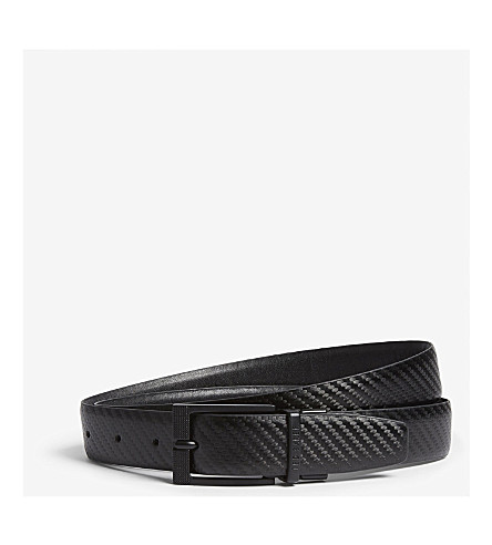 TED BAKER Leonne reversible leather belt (Black