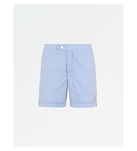 TED BAKER Selwyn striped swim shorts (Blue
