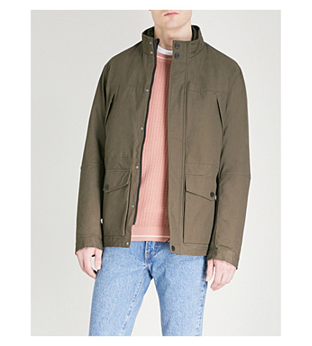 TED BAKER Nilson 2-in-1 cotton and shell field jacket (Khaki