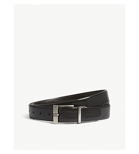 TED BAKER Inka reversible leather belt (Black