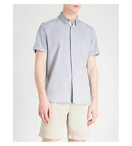 fit BAKER shirt woven grey Light slim TED Franko TED BAKER waXxOqS1R