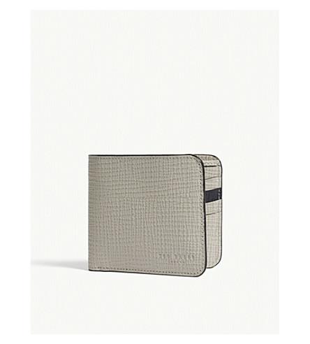 TED BAKER Palmelato leather bi-fold wallet (Natural
