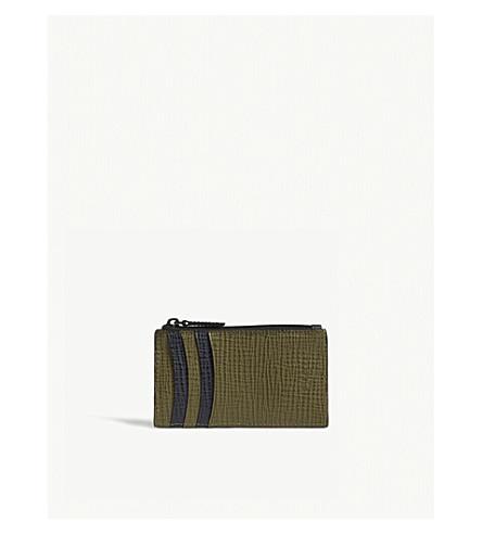 TED BAKER Palmelato leather card holder (Navy