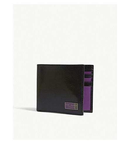 TED BAKER Buddy bi-fold leather wallet (Black