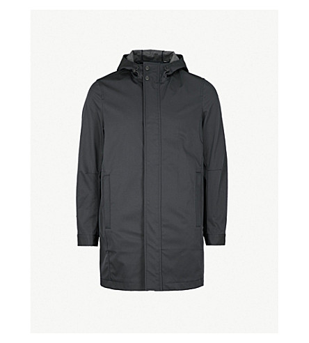 TED BAKER Waterproof twill mac coat (Navy