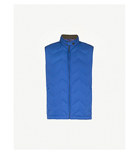 TED BAKER Hobart shell-down gilet (Bright+blue