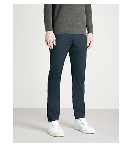 TED BAKER Finnet slim-fit tapered stretch-cotton chinos (Navy