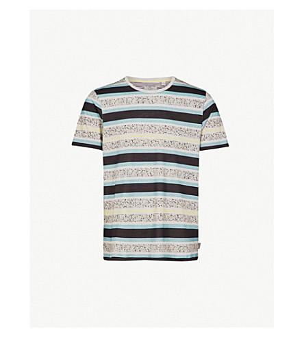 TED BAKER Striped cotton-jersey T-shirt (Blue