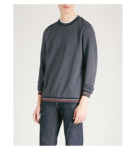 TED BAKER Damlar birdseye knitted jumper (Navy
