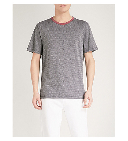 TED BAKER Terry cotton-jersey T-shirt (Black