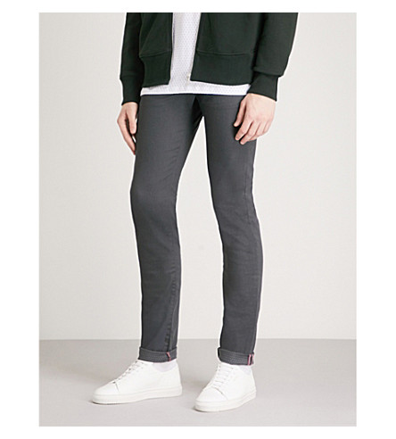 TED BAKER Tapered turn up cuff jeans (Grey