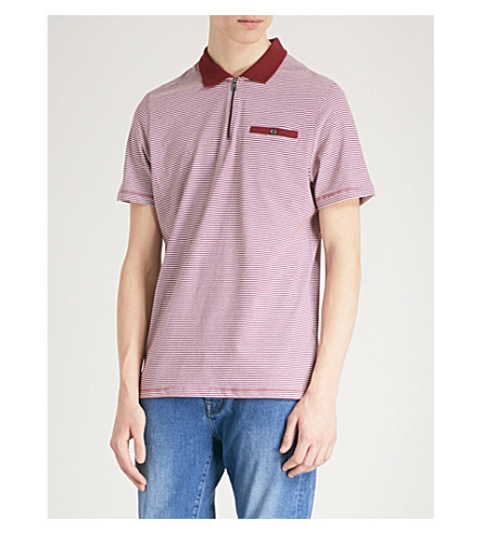 TED BAKER Knit polo shirt (Dark+red