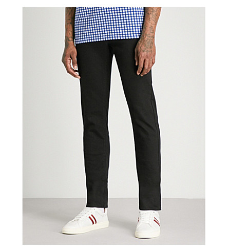 TED BAKER Over-dyed tailored-fit mid-rise jeans (Dark+wash