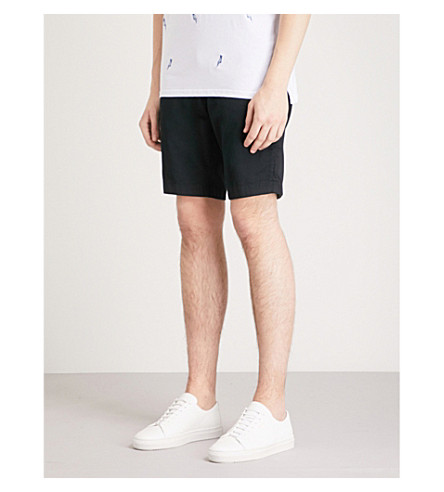 TED BAKER Smartz regular-fit cotton-blend shorts (Navy
