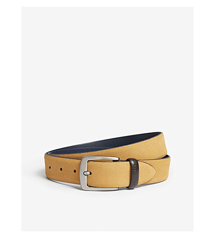 TED BAKER Chatts suede belt (Natural
