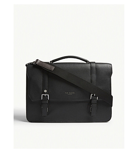 TED BAKER Nevadaa grained leather satchel (Black