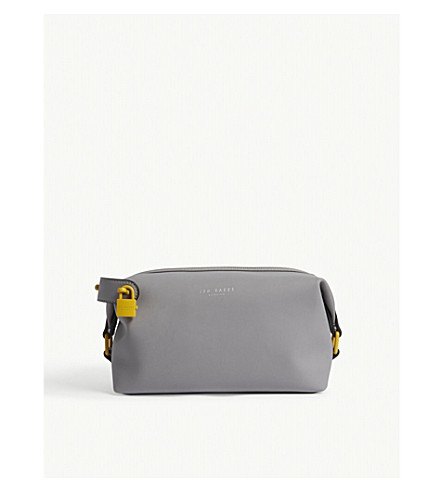 TED BAKER Sandaa rubberised wash bag (Grey