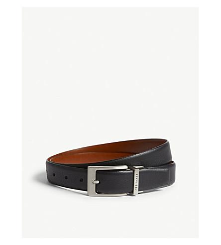 TED BAKER Karmer reversible leather belt (Black