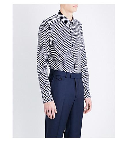 TED BAKER Timeten 常规版型合身棉衬衫 (海军