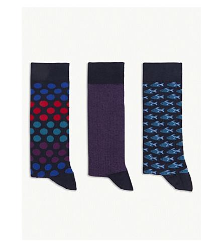 TED BAKER Cotton-blend sock gift set (Assorted