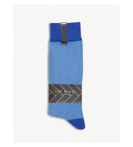 TED BAKER Joaquim cotton-blend socks (Blue