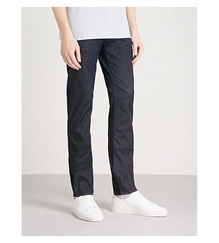 TED BAKER Vindie slim-fit straight-leg jeans (Dark+wash