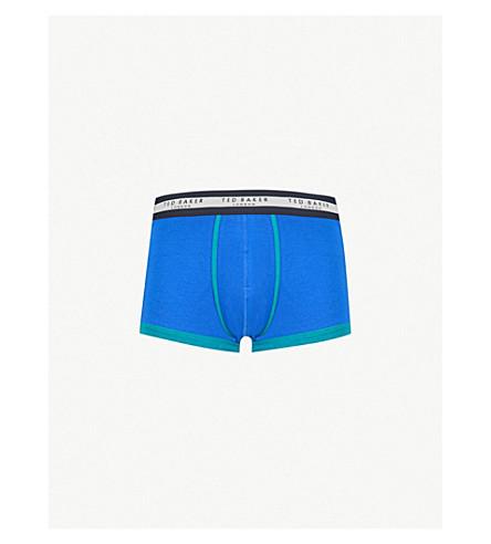 TED BAKER Plain slim-fit stretch-cotton boxer shorts (Bright+blue