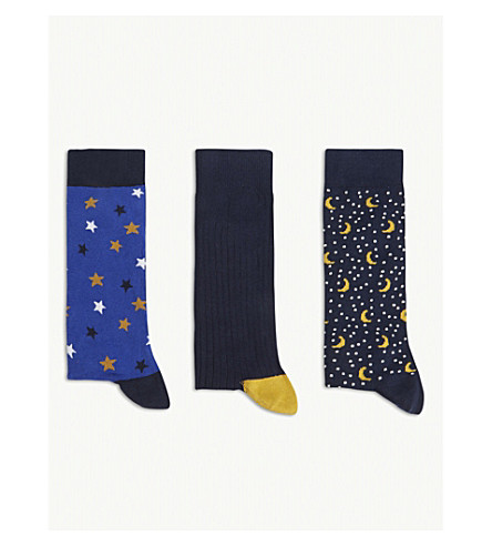 TED BAKER Cotton-blend sock gift set (Assorted